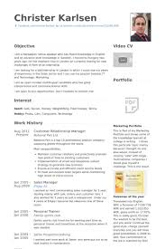 Relationship Manager Resume Samples Visualcv Database Rh Com