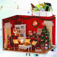 New Sweet Home Colombian Coffee House Room DIY Dollhouse Kit With