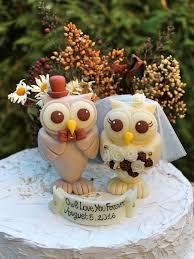 Owl Love Bird Wedding Cake Topper Rustic Country