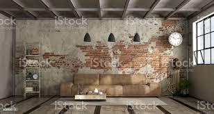 wohnzimmer im industriellen stil stockfoto und mehr bilder architektur