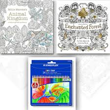 Millie Marotta S Animal Kingdom And Enchanted Forest 2 Coloring Children Books Set