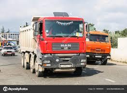 100 Red Dump Truck Sochi Russia July 2009 Man Tga City Stock Editorial