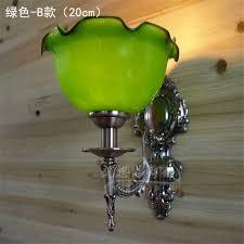 vintage klassische grün glas wand len schlafzimmer wohnzimmer esszimmer treppen balkon bank dekoriert wandleuchter lichter leuchten
