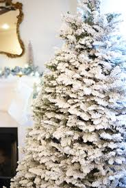 Flocked Real Christmas Trees by How To A Snowy White Christmas Tree A House With Books