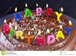 Happy Birthday Cake Candles Stock Image Image