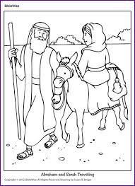 Coloring Abraham And Sarah Traveling