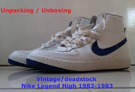 Unboxing Unpacking Real Deadstock Vintage Nike Legend High 1982 1983