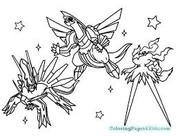 Pokemon Coloring Pages Legendary Print