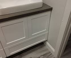 Kitchen Cabinet Filler Strips by New Vanity Drawer Hits Door Casing What Would You Do