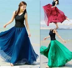 new 2014 autumn skirts womens casual gypsy long floral skirt women