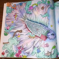 Finally Finished Animorphia Adultcoloring Adultcoloringbook Kerbyrosanes Betta Creatures Pretty FishDoodle ArtBettaColoring