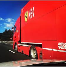 100 Ferrari Truck Scuderia Truck Enroute To Barcelona Formula1