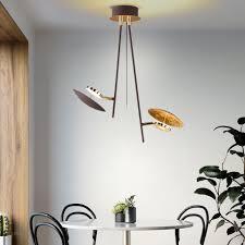 etc shop led deckenspot deckenle led esszimmer spots verstellbar gold 9 watt 800 lumen 3000 kelvin hxb 50x45 cm kaufen otto