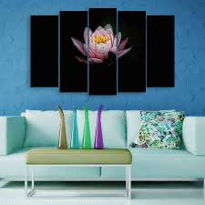Multiple Frames Lotus Flower Wall Painting 150cm X 76cm