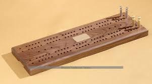 American Walnut Large Cribbage Board