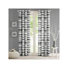 Kohls Triple Curtain Rods by Intelligent Design Strider Cotton Stripe Printed Window Curtain