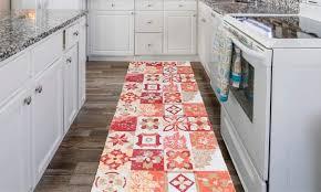 küchen läufer teppich majolica in schwarz oder rot und in der größe nach wahl