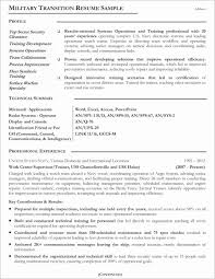 Military To Civilian Resume Template Gorgeous Example Awesome Free Of