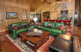 Green Leather Sofa Design For Living Room Ideas