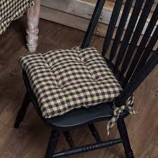 Black Check Chair Pad 15 X 15