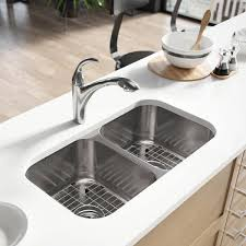 Overstock Stainless Kitchen Sinks by René By Elkay R1 1024a Double Bowl Undermount Stainless Steel