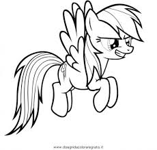 Printable Rainbow Dash Coloring Pages My Little Pony Flying Human Of Medium Size