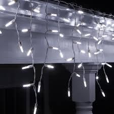 led christmas lights 70 led icicle lights cool white m5 bulbs