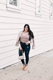 rose gold outfit with Nordstrom Rack sassy red lipstick a
