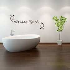 malango wandtattoo wellnessoase badezimmer bad wellness wanddekoration relax oase dekoration ca 60 x 26 cm hellgrün