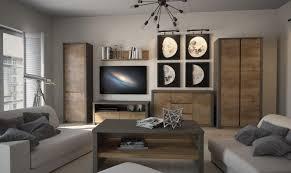 wohnzimmermöbel wohnzimmer komplett set c selun 6 teilig farbe eiche dunkelbraun grau