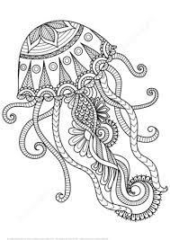 Click To See Printable Version Of Jellyfish Zentangle Coloring Page