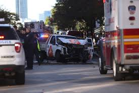 Manhattan Truck Rampage Is Latest In Disturbing Global Trend Of ... New York City Truck Rampage Signals Rising Trend Of Vehicle Attacks Fuel D238 Rampage 2pc Cast Center Wheels Black With Gunmetal Face Officer Who Halted Hailed As A Modest Hero The Rampage Monster Trucks Wiki Fandom Powered By Wikia 15 Rc Truck Body Shell White Red Xt Mt Xte Pro 1984 Dodge Aftermarket Parts Vintage Strombecker Toy Pickup 1898421382 Redcat Racing R5 Scale Brushless Electric Truck 8s Pretty 2018 Exterior Car Bugflector Ii Smoke Hood Protector