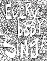 Singing Poster Everybody Sing Doodle Art