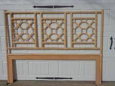queen size bed with wonderful faux bamboo headboard bamboo