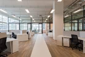 Open Space with divider cabinets wood alike vinyl floor Lucibel