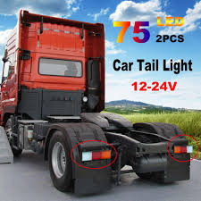 2X 12-24V 75 LED Tail Lights Ute Trailer Caravan Truck Boat Stop ... 2x Led Rear Tail Lights Truck Trailer Camper Caravan Bus Lorry Van 0708 Dodge Ram Pickup Euro Red Clear 111 Round And W Builtin Reflector 4 Inch Led Whosale 2018 8 Car Light Warning Rear Lamps Waterproof Amazonca Trucklite 44022r Super 44 Stopturntail Kit 42 2 Pcs With License Plate Lamp Durable Lights Ucktrailer Circular Stoptail Lamp 1030v 1 Pair 12v Turn Signal 20fordf150taillight The Fast Lane