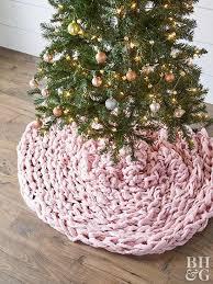 Chunky Pink Braided Tree Skirt