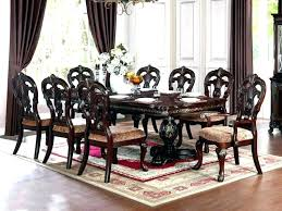 8 Chair Dining Set Fascinating Room Sets Person Wood Table 9 Piece Rustic Design Inspiring Home
