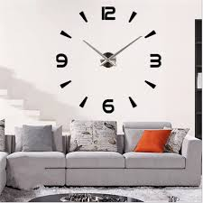 Charminer Large Wall Clock Personalized Big 3D Diy Acrylic Mirror Stickers Quartz Modern New Arrival In Clocks From Home Garden On