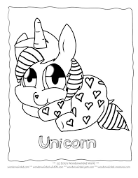 Unicorn Cartoon Coloring Pages FREE To Print At Wonderweirded Creatures