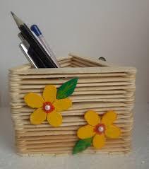 Popsicle IceCream Stick Pen Stand Holder Craft