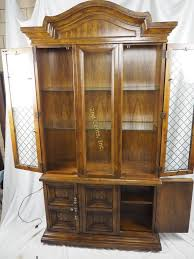 American Of Martinsville Dining Room Table by American Martinsville Tall China Cabinet Hutch