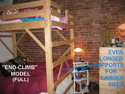 solid loft bed plans college dorm u0026 child loft beds