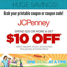 $10 Off $25 JCPenney Purchase - Instore Or Online ...