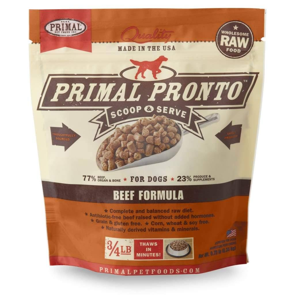 Primal K9 Dog Food - Raw Beef Pronto Formula, 12oz