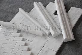 italian white calacutta gold marble bathroom tile trims pencil