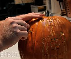 Pumpkin Carving Drill Holes by Epbot Prepare To Be Dazzled
