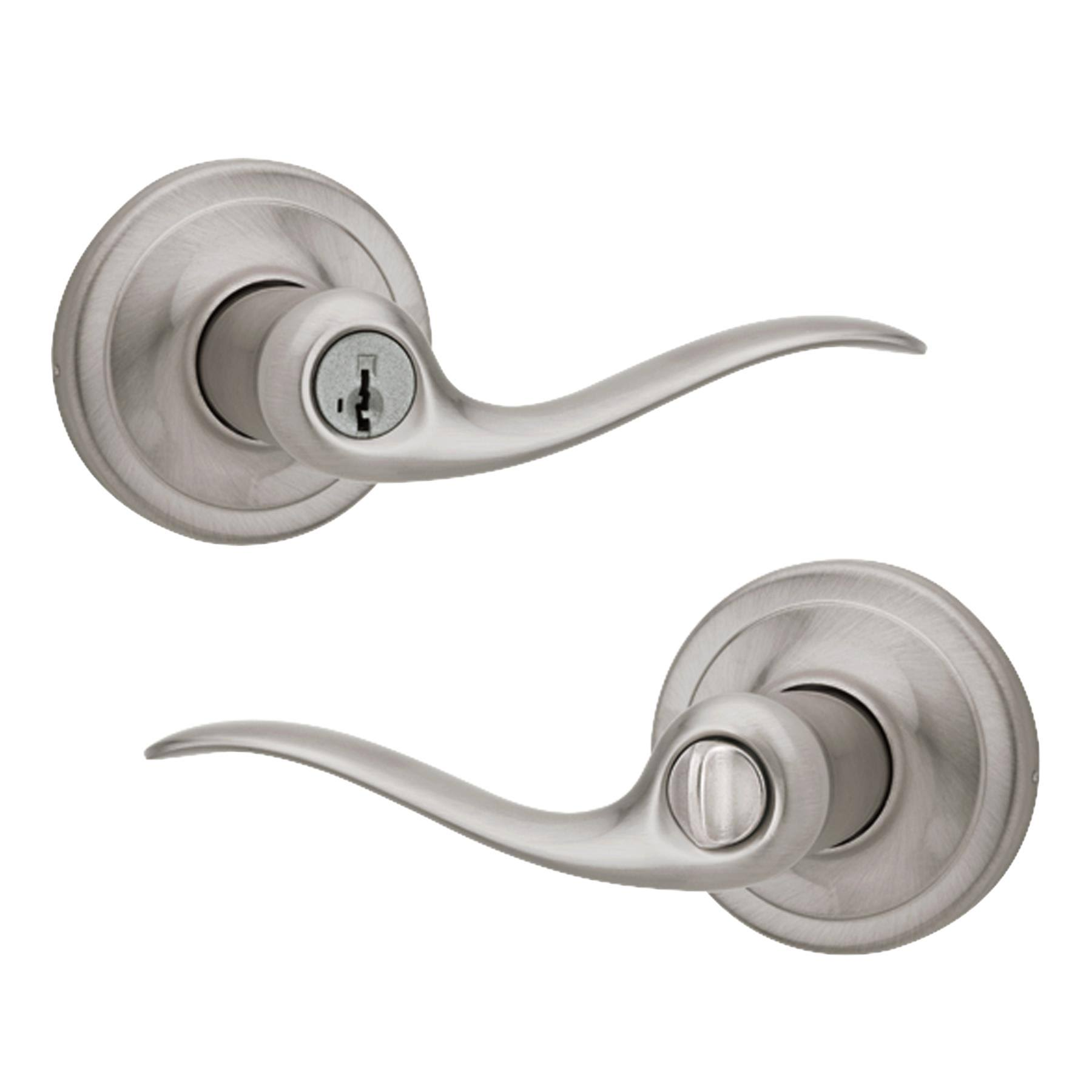 Kwikset Tustin Keyed Entry Lever - Satin Nickel
