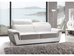 canapé gris et blanc pas cher canapé cuir satis city 2 places blanc et gris pas cher ubaldi com