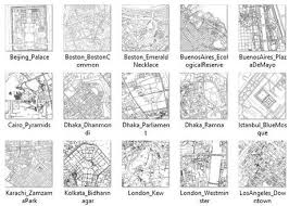 City Maps Coloring Book For Adults
